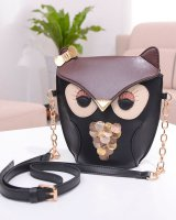 Owl lovely retro mixed colors diagonal  for women