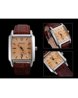 Genuine leather man watch waterproof watch