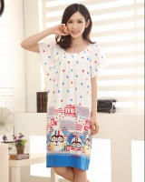 Large yard imitation of modal night dress summer pajamas