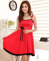 Transparent summer night dress enticement pajamas for women