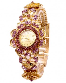 European style rhinestone female watch Geneva bracelet watch