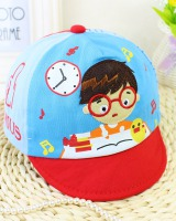 Spring baby Korean style pure cotton soft edge cartoon peaked cap