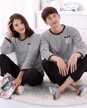 Spring and autumn couples sets long sleeve homewear pajamas
