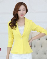 Candy colors long sleeve Korean style business suit