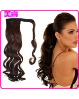 Fashionable long wig horsetail European style curly hair