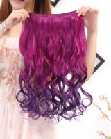 Colors 5-clip wig long gradient hair extension