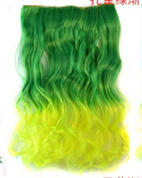 Colors gradient curly hair a slice long hair extension