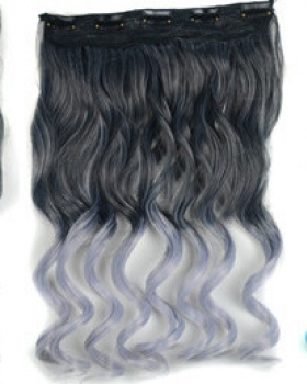 A slice gradient hairpiece colors hair extension