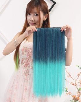 Long 5-clip colors wig gradient a slice straight hair