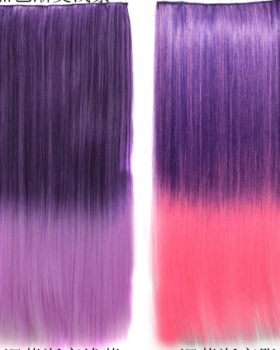 Long gradient 5-clip straight hair colors a slice hairpiece