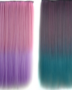 Colors 5-clip hair extension gradient straight hair