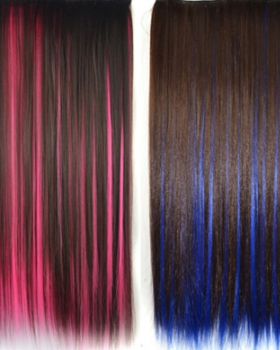 Double color hairpiece long hair extension