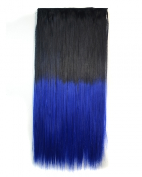 Gradient dyeing long hairpiece colors 5-clip color hair