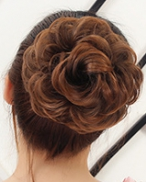 Bud lifelike chignon fluffy hair ring