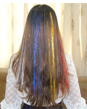 Purl light flash colors colorful hair extension