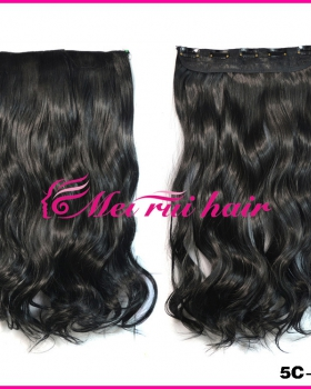 European style a slice curly hair 5-clip long hairpiece