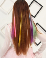 Double color colorful color hair gradient hair extension