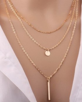 Metal necklace sequins multilayer European style accessories
