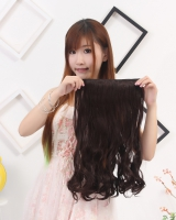5-clip a slice long hairpiece thick waves volume wig