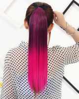 Colorful gradient colors double color straight hair