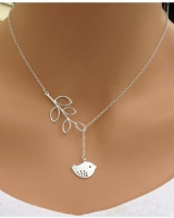 Necklace bird leaves fashion alloy clavicle necklace