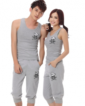Summer short sleeve school uniforms couples T-shirt