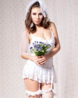Lovely wedding white Sexy underwear bride sexy formal dress