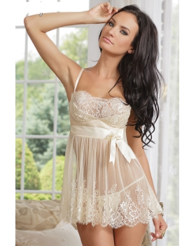 American style gauze maiden strap dress sexy lovely pajamas