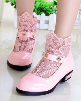 Spring girl lace children shoes Korean style fashion shoes