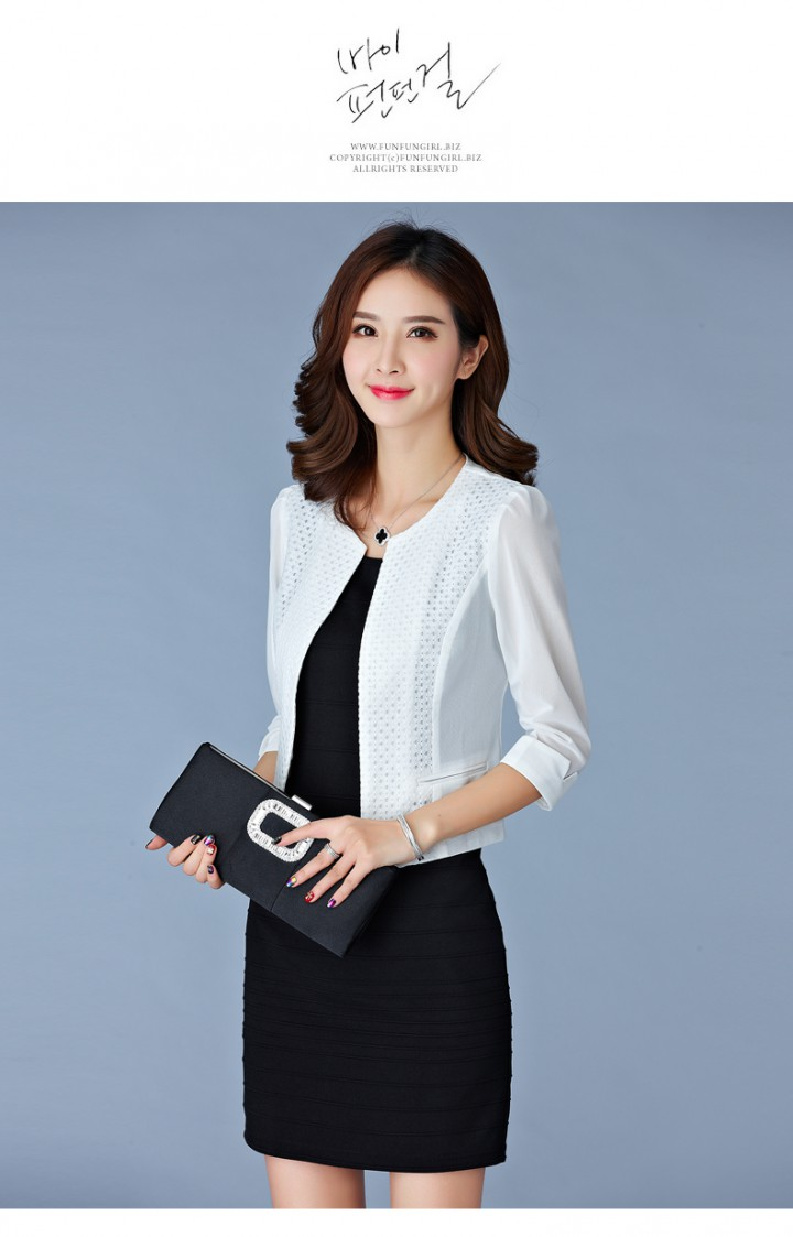 Thin short sleeve cardigan temperament jacket for women CW42104 ...