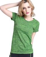 Slim yoga T-shirt elasticity sports tops for women