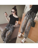 Casual summer wide leg pants Korean style T-shirt a set