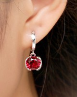 Long temperament accessories crystal ear-drop for women