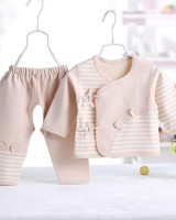 Baby natural combed child couples cotton  2pcs set