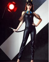 Patent leather party clothing performance clothing