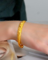 Opening colors bride bracelet gold glossy wristband for women