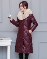 Sheepskin long down coat genuine leather leather coat