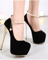 European style retro catwalk high-heeled shoes