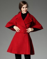 Autumn and winter long cloak fashion overcoat for women