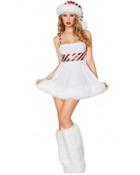 Party stripe christmas costumes fashion strap dress