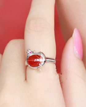 Silver gift opening antique silver ring for women