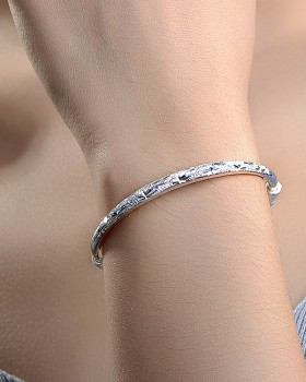 Starry silver wristband fashion round bracelet