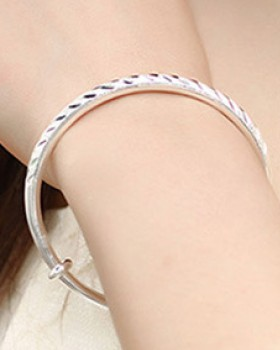Fashion nubuck round silver gift bracelet for women
