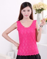 Hollow lace vest summer sleeveless bottoming shirt