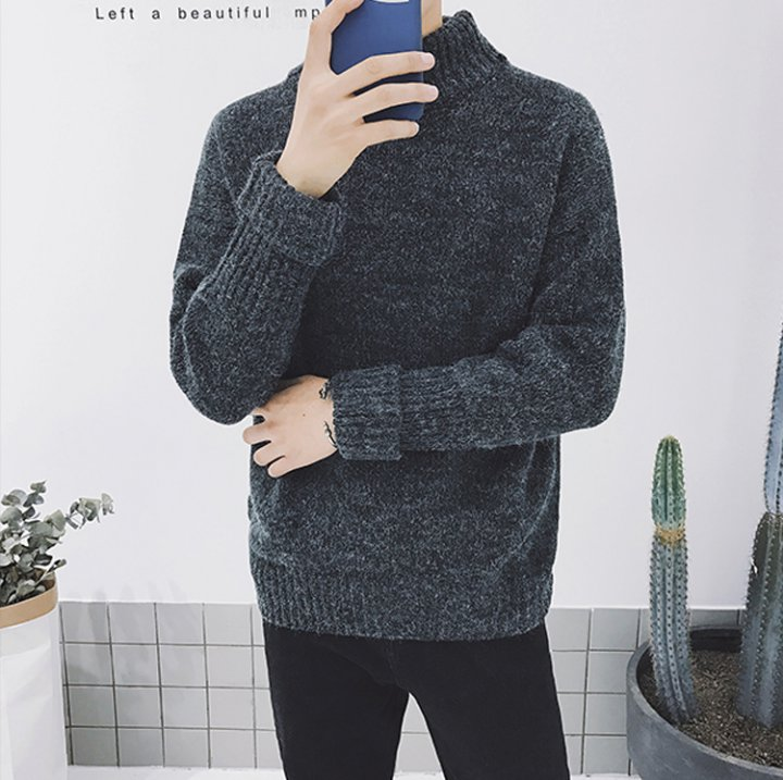 Flanging student couples autumn and winter loose sweater