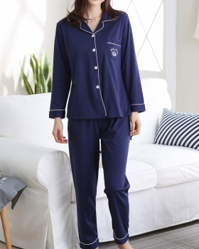 Large yard autumn knitted homewear pajamas a set for women