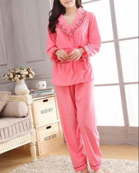 Long sleeve sling long pants winter sexy pajamas 3pcs set