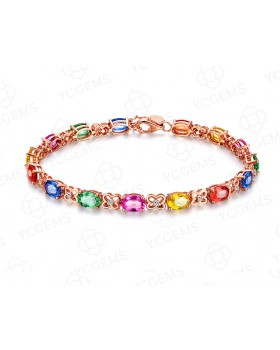 Inlay colors creative luxurious noble gilded gem bracelets