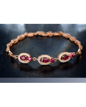 Gilded European style inlay red silver creative bracelets