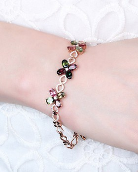 Korean style silver rose gold bracelets